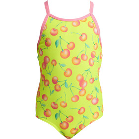 Funkita Printed One Piece Uimapuku Pikkulapset, cherry top